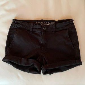 American Eagle Super Stretch Shorts Black